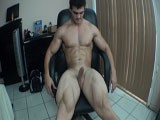 gay porn Sexy Wet Hunk Strips N || Flexing my big muscles and stroking my cock all nice and wet until i bust a nut!!