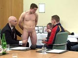 Gay Porn from CMNM - Footballer-Steven-Stripped