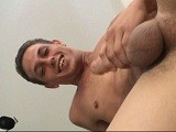 gay porn Homie Stud Christian || Italian/puerto rican, big-boned homie-stud christian enjoys flexing his forearms and his thick, ten-inch piece while lifting weights at home in miami, fl. This dark, smooth sex-charged seducer has a real dirty-mouth and a rock-steady meat-stick. He gets off on pumping his blood-engorged machine till it is ready to explode, popping big and hefty loads all over his chest. As if it doesn't get any better, this straight-acting top-man aggressively finger's his own tight ass and licks up his warm, milky mess. Even this top-player has to keep his ass tight, or so he says. <br />