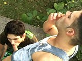 Alex and andrey hang out together, as friends often do. So when we suggested they star in their own outdoor adult film, they jumped at the idea! Andrey's role playing idea was smoking and the end result was very unique! Loads of hot outdoor sex including plenty of sucking and fucking action!