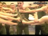 Ericdeman has a very horny video of an eager young army recruit who is getting initiated into the squad. The soldiers surround the nervous newbie and literally rip his clothes off him until he's stark bollock naked. The brave boy seems to enjoy being the center of attention because when his clothes are completely off he waves his cock enthusiastically. But this is only the beginning! Whenever a new soldier falls asleep his army buddies take turns slapping their cock on his face and taking a picture of it. Find thousands of real army men exposed on video at ericdeman!