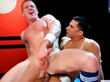 gay porn Blu Kennedy &amp; Toph || Pick a team - do you prefer the ginger-perfection of Blu Kennedy in his Soccer gear or Topher DiMaggio's dark complexion in his boxing gloves? Both guys are chiseled, masculine, studs with huge, rock-hard cocks. DiMaggio steps up to feed Kennedy his thick dick and it's clear that our boxer is going in the ring. Kennedy sits down and rides DiMaggio's cock like a pro - then gets on all fours, using his big pink ass to milk a huge load out of DiMaggio, who shoots across the arena!