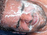 Gay Porn from ManButtered - Big-Semen-Drops-On-His-Face