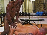 Another hot video on timtales troy the black fuckstud pound a sexy and tattooed musclehunk
