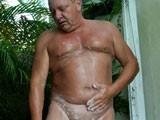 Kick back and watch this horny daddy soap up in the shower, take a swim in the pool, and spread his ass wide open for you to see his willing hole. Jerry strokes it in the hot sun and i loved every second of filming him!