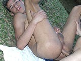 Guy Dildoing Latin Studs Ass ||