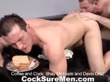 Gay Porn from CocksureMen - Coffee-And-Cock