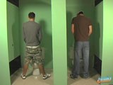 gay porn Two Studs And A Glory Hole || Jesse jacobs and kameron scott are both at lunch in the bathrooms, having a sneaky jerk. Their attention is soon drawn to the small 'glory' holes in the wall. Jesse instantly has his rock solid dick though it with kameron sucking on it hard! Kameron puts his super tight ass against the hole and takes a seriously good fucking from jesse, before taking jesse's load in his mouth!