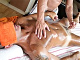 John marcus is a real dilf, so when the massuse comes by, he can barely control himself when he see's john's well toned ass. He starts massaging all over his body, finally slipping his client's cock into his mouth.
