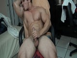gay porn Sweaty Muscle Worship  || Alain lamas flexes his huge muscles all nice and sweaty popping out the veins and grunting like a beast he pulls out his cock and strokes it while flexing hardcore getting so turned on by the muscles he bust a huge load and rubs it on his 19inch bicep flexing that sweaty cum filled bicep