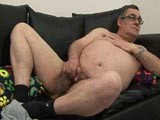 Fat Daddy Jerking His Meat || 