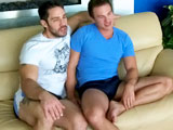 Naked gay muscle hunks Brent Diggs and Cayden Ross rim, suck cock and fuck in this spectacular hardcore video.