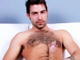 Another hairy guy for your viewing pleasure! Austin pretty much gave up on trying to keep his body hair at bay, and frankly it looks awesome on him. He is a natural in front of the camera and loves to show off. He has an amazing dick, pierced for some of the photos for fans, but removed during the solo. He likes to have it tugged on so maybe a little play with it during a future video will be possible.