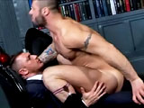 "Its an Italian Stallion face-off this week as Francesco D'Macho makes his long awaited return to Menatplay to team up with MAP Exclusive Alex Marte in this white hot scene. As one of Menatplay's all time favourite stars, Francesco is eager to meet the hot new Star, and the sexual tension is palpable from the very beginning. Once Francesco approaches Alex to kiss him, the action begins hard and fast. The suits are ripped off savagely as the muscle hunks devour each other, kissing, sucking and eating every inch of each other's body. Alex sucks on Francesco's meaty cock, getting it nice and hard before sitting on it and fucking himself deep and fast. But that's not enough for cock-hungry Francesco, as he gives up his beefy ass to be pounded hard by the 6'2"" muscle god till he reaches climax, throws Francesco to the floor and shoots his hot creamy load all over his hairy chest."