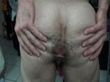 Alain lamas shows off his amazing ass and hairy asshole, then bust a huge load all over his chizzeled abs