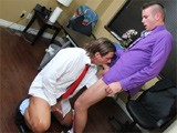 gay porn Hard Office Tension 2 || Lukas is all about ordering office supplies. He suggests condoms and lube as joke.