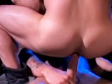 The ultimate gay-for-pay top, Ricky Sinz, gets two lots of ass to sort through in this military-themed encounter with hairball RJ Danvers and River Fiasco. He's about the only man we know is up to the job of tackling these wild, uncontainable stars and has the reins on them tight.
