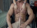 Alain Lamas Getting His Huge Ripped Muscles Worshipped and Then Stripping Down Naked and Fucking a Tight Hole Till He Bust a Huge Load