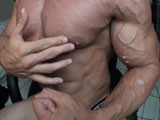 Alain Lamas Huge Bodybuilder With a Huge Boner Flexes His Ripped Vascular Muscles While Keeping His Cock Rock Hard and Ready for Action Busting a Huge Nut on His Huge Ripped Veiny Arms