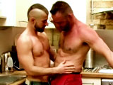 John comes home from work to find his lover, Yohann, washing a dildo in the kitchen sink. These bearded men swap blowjobs, rim ass, and trade fucks in my kitchen. John even gets his ass fucked with a dildo before both men shoot their loads. John's covered in spunk!