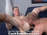 gay porn Mitch And Riley || the Male Ego Is a Fragile Thing, Especially When It Comes to Appearances. Riley Price Has Arrived Home From a Workout and Immediately Gets a Little Trash Talk From Mitch Vaughn Over Whose Abs Are Finer (we'd Give Them Both a Gold Medal). the Six-pack Debate Ends Rather Quickly With Some French Kissing and One of Our Favorite Signs of a Truce, a Big Wet Blow Job, With Mitch Servicing Riley's Big Dick. Riley's Cock Isn't Even Dry When He Switches Places and Deep-throats Mitch for a Good Long Time. If You Think It's All About Sex, You're Right, Until Riley Starts Doing Crunches In Bed as Mitch Sucks to His Heart's Content. the Focus Then Turns to Riley's Ass, Which Is Licked, Fingered, and Fucked, In That Order. Sweet-faced Riley Shows His Nasty Side, Begging Mitch to Spank Him. Props to Mitch for Literally Fucking the Cum Out of His Buddy Before He, Too, Lets the Jizz F