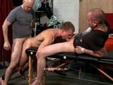 gay porn Captive Kickboxer Fucked || Hetero John Is Seething With Rage Being Bound Hand and Foot and Bent Naked Over a Table by the Straighthell Tops. They Subject the Muscular Straight Athlete to a Spanking Machine While Being Ordered to Suck Cock. His Pink Ass Is Fucked While Being Ordered to Service Another Dick. His Strong Body Struggles the Entire Time and He Curses His Captors Every Time His Mouth Isn't Filled With Cock. His Laughing Tormentors Leave His Face Covered In Cum.