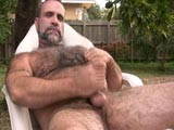 gay porn Bearish Daddy Blows Hi || We Really Enjoy Watching Hairy Butch Mature Men Jekring Off so When We Had a Chance to See This Hot Silver Bear In Action We Jumped At It and Mario Was More Than Happy to Show Off His Nice Silverfur, Hot Tattoos and Nice Mature Cock.