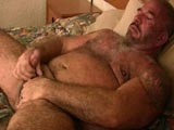 Hairy Daddy Felice Jerks Off