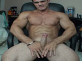 Alain Lamas Horny Bodybuilder Jacks Off His Huge Cock While Showing Off and Flexing His Ripped Hard Muscles Until He Bust a Creamy Load