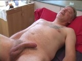 Russ Is a Married Dude but Because of Some Medical Condition With His Wife He Choices to Find Some Sexual Satisfaction With Guys. He's Had Guys Massage Him Before but Not the Way He's Going to Get Massaged Today. He's Got a Hot Uncut Floppy Dick to Play With and Suck.