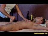 as Chad Brock Is Rubbing Seth Michaels Down, He Takes His Cock Into His Hand, Stroking Up and Down, Finally Deep Throating His Manhood, Which Gets a Big Rise Out of Seth. Next Chad Begins a Generous Cock Rub, Where Seth Can Barely Keep His Hips on the Table, Really Getting In to the Flow of Things.