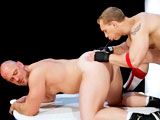 gay porn Craig Reynolds &amp; J || John Magnum's coaching technique involves a lot of verbal abuse, dick-stroking, and face-fucking - a combination that works well for Craig Reynolds. After a grueling workout John rewards Craig by shoving his thick cock down his throat. As soon as Craig's dick is hard John goes down on him, but not for long. Coach John wants to plow Craig's giant bubble-butt. He mounts the giant wrestler and power-fucks his hole then lies back and orders Craig to ride him. Craig grabs the gymnastic rings and bounces up and down on John's cock until they both blow their loads.