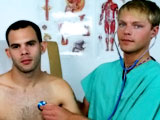 gay porn Dr Blake &amp; Christian || Christian returns to get his physical.