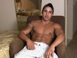 gay porn Caua Jerks Off || Brazilian Jock Caua Bears It All.