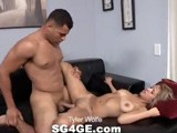 gay porn Tyler Wolfe || Tyler Wolfe Is a 22 Year-old Hunk From San Diego With Mocha-colored Skin, a Powerfully-built Body, and a Beautiful 7-inch Cock. He Prefers Petite, Blonde Women and When We Introduce Him to Kim Gonzalez It's Lust At First Sight. Tyler Likes to Pose for the Camera, First as He Sits on the Sofa With His Shirt Off and Then Buck Naked, His Hairy Ass on Full Display. Tyler's Cock Has a Huge Head and Thick Shaft. He Proves Himself an Expert At Eating Pussy. Tyler Loves to Fuck and Watching Him Thrust Each and Every Inch of That Cock Inside His Playmate Is Extremely Hot. Tyler Pounds Kim From Behind, Drilling Away Until the Beads of Sweat Drip From His Forehead. In the Big Climax Tyler Shoots His Hot Load All Over Kim's Stomach.