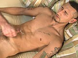 gay porn Hot Latino Handjob! || Sexy, Tattooed and Toned Pana Is Here to Grace My Studio Today With His Presence (and Surprisingly Thick Meat.) Pana Begins Talking About How He Stays In Shape: Dancing At Gay Clubs and Hitting the Gym as Much as He Can. This Puerto Rican-italian Stud Must Really Work His Body Hard, I Could His Biceps Flexing Just as He Was Sitting There, Describing to Me the Unique Curvature of That Aforementioned Fuck Tool and How Other Guys Have Recognized Him Based Off That. Even Though He's a Straight Guy He's No Stranger to Having Another Dude's Lips Wrapped Around His Cock; Unfortunately Though He's Never Gone All the Way. Let's See If I Can't Change That Sometime Down the Line. He Strips Off His Shirt Showing Off His Large, Defined Chest and Washboard Abs to Go With His Muscular Arms. Getting Back on the Bed and Comfortable, Pana Starts Working on His Cock Through His Hip-hugging Black Jeans. He Undoes His Belt and Opens Them Up to Reveal He's Going Commando and Sporting Some Serious, Uncut Wood. True to His Word, His Dick Has a Strong, Prominent Curve Starting About Halfway Up His Shaft. He Lets Off a Breath of Pleasure as He Strokes His Cock Into a Throbbing Mess, Precum Leaking Out of the Tip. Dropping His Pants All the Way to His Ankles, Pana Gets Up Onto His Knees to Give a Perfect, All-around View of His Sculpted Body. I Got the Camera In Close to His Round Bubble-butt Revealing a Perfectly Hairy Crack and Tight Balls That Seem Ready to Shoot a Load. Getting to the Front, I Pulled Out of Trusty Measuring Tape and Lined It Up From the Base of His Cock, Following It Straight Up His Curve to the Tip of That Uncut Monster; a Little Over 7&quot; Long, and Almost as Thick Around. I Dropped the Measuring Tape and Left My Hand There for a Couple Extra Tugs to No Objection. Taking the Opportunity, I Started Stroking His Gorgeous Tool In My Hand as Pana Laid Back to Let Me Work. With One Hand on His Pulsating Tool and My Other Traveling All Over His Body, I Explored Him From Head to Toe, Groping His Tight Balls and Sliding My Hand Up His Hard 6-pak Abs to His Defined, Smooth Chest. Pana's Breathing Got Heavier as I Stroked Him a Little Faster, More Precum Teasing the Tip of His Dick. With a Load Groan, Pana Pushes His Head Back Into the Pillow as His Dick Convulses Under My Expert Strokes, Spraying Out Shot After Shot of Thick, White Cum Onto His Smooth, Tight Stomach. I Gave Him a Couple More Tugs as He Laid There In Supreme Ecstasy. This Is One Hung Hottie for Anyone to Enjoy.