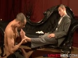 gay porn Full Service Valet || Jake's a hard man to please, as Issac is finding, as runs his white-gloved hand around the recently dusted furniture. It seems Jake's housekeeping skills are lacking and there's only one thing the eager-to -please young man can offer to keep his job - his hard, uncut dick and perfectly toned naked body. Jake takes absolute advantage, pressing his hard dick to Issac's tight hole until it yields and his stiff tool is swallowed up in hot, muscular arsehole. Being a valet can be demanding, but Issac loves his job.