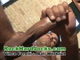"Italian newcomer Vince Ferelli in his first video ""Ball Workout"""