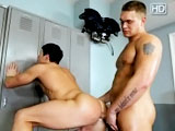 Bryce Tucker is a personal trainer for hottie Jay Stone and gives his hot hungry hole a workout he'll never forget.