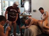 gay porn Party Foul || After Drinking Too Much Beer, Sebastian Passes Out on the Couch and We Have Some Fun With Him. I Draw a Dick on His Forehead With a Marker, Breasts on His Chest, and Then We Spray Whipped on His Hand and Start Tickling His Face. Splat! Sebastian Wakes Up and He's Pissed. the Five of Us Wrestle Him to the Couch and Take Turns Fucking His Ass and Mouth. and When We're Done with Him, We Each Jerk Off and Blast Our Juicy Loads All Over Him.