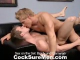 gay porn Sex On The Set || Brady Jensen and Cameron Foster Work Up Quite a Sweat as They Help Our Very Own Jake Cruise Put the Set Together At the Cocksure Men Studio (that's Jake Giving the Guys Directions.) They Are Both Incredibly Buff, With Broad Shoulders, Huge Biceps and Great Pecs. Once the Set Is Finished, Jake Tells Brady and Cameron to Start Kissing. Cameron Works His Way Down Brady's Upper Body and Onto His Cock. Brady Then Gets on His Knees to Swallow Cameron's Dick. the Guys Strip Down and Cameron Bends Over and Takes Brady's Rock Hard Dick Up His Ass. the Fucking Continues With Cameron Getting Plowed on His Back. Cameron Shoots a Huge Load While Riding Brady, the Cum Dripping Down His Stomach and All Over Brady's Legs. the Cameraman Gets One Last Shot as Brady Rubs His Dick In the Load He Shot All Over Cameron. It's a Wrap!