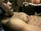 Horny Black Guy Masturbating His Big Wang In Bedroom