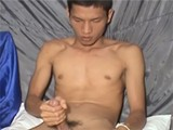 gay porn Asian Secret Jacking || Horny Asian Wanking His Fatty Massive Dong on the Couch