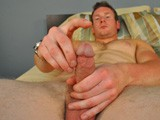 gay porn Straight Ginger Hunk Mmm || Furry and Muscular Blonde Guys Are Always a Treat In My Book, and Today I've Got a Real Fine Specimen of Straight Hunk. Jack Dillinger Exceeds All of My Expectations, and Then Some. We Begin Discussing His Goals In Porn, His Limits and the Chances of Me Getting to Push Some of Them. Jack Takes It All In Stride and Immediately Goes to Work Getting the Crotch In His Jeans to Bulge Till the Breaking Point of Capacity. Jack Quickly Undoes the Fly and Pulls His Hefty Cock Out From Behind the Elastic Waistband of His Stretchy Boxer-briefs. Using His Right Hand to Hold His Boxers Down Below His Sweaty Balls, Jack Jerks His Hot Dick Until It's Rock Hard and Ready for Me to Measure. It Feels so Good In My Hand as I'm Pressing the Measuring Tape Against It Just Under 7 Is the Final Verdict and It's Perfectly Proportioned. Laying Back In the Chair, Jack Continues Whacking Off, Building Up Momentum Towards the White Fireworks Show We're Both Eagerly Waiting For. He Stops Right Before Letting It All Go and Flops Down on the Bed After a Short Breather. Hand Tightly Grasping His Gorgeous Cock, Jack Continues Wringing His Meat-puppet and Gets Up on His Knees to Show Off His Virgin Hetero Manhole to Me. Spreading His Freckled Hemispheres of Flesh, Mr. Dillinger Taps His Fingers Against the Spokes of His Taut Hole and Even Lingers There a While Sending Waves of Pleasure Through His Abdomen and Causing a Little Precum to Drip Out. This Only Lasts for a Moment Longer Before He Is Back Upright on His Knees to Deliver a Mouth-watering Load of Glistening Junk All Over His Chiseled Gymified Abdominal Muscles. I Can't Wait Till I'm Able to Corrupt This Guy a Little More.