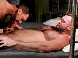 On the last night of their tour of duty, these two hairy soldiers get nasty in the barracks. These two soldiers take full advantage of an empty barracks and get in a hot suck and fuck session. Watch Aaron spray his load everywhere while he sits on Dillon's 9-inch hard cock.
