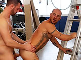 gay porn Fuck The Rules || Aitor Crash is clearly begging for it. The way he lolls, arrogantly around on the scaffolding, his hairy bollocks and uncut dick dangling out of his ripped jeans. Dillon's as horny as usual and when he finds Aitor at his mercy he wastes no time chowing down on the workman's dick and slowly, opening his tight arse with his tongue before plunging, his infamous tool deep, deep inside.
