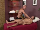 Asked to Turn on His Back, Alexander Garrett Rolls Over for Some Frontal Sexploration! With Some Sensual Rubbing and Kissing, Followed by a Firm Cock Massage, Alexander Is Getting so Aroused That He Cannot Keep His Hands Off of Chad.