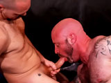 gay porn Raul Marcos & Eddi || Bald man Eddie Butler is a hairy cocksucker loves servicing a nice dick. He's beefy, hairy, and sporting a nice uncut dick of his own. Raul Marcos is packing a 9-inch dick. Eddie chows down on Raul's whoppingly big dick before he finally gets his ass plowed hard.
