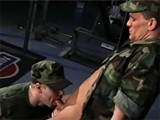Military Hunk Gives Blowjob and Gets Anally Banged by His Officer In Rank