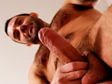 gay porn Sergio || Hairy Italian man Sergio has an infectious laugh. He laughed and joked around all through his on-screen interview. Sergio eventually settles down and hauls out his big, fat, uncut cock and jerks off. And it is a delicious thick cock with a plump cock head.